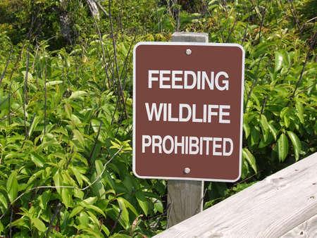 Feeding Wildlife Prohibited Sign