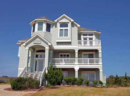 domiciles: Beach house in the Outerbanks of North Carolina. Stock Photo