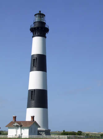 Bodie Island lighthouse in the Outerbanks of North Carolina.