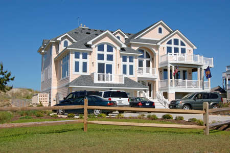 A luxury Ocean Front Beach House in the Outer Banks of North Carolina. Archivio Fotografico