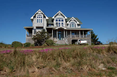 outerbanks: Beach House in the Outer Banks of North Carolina. Stock Photo