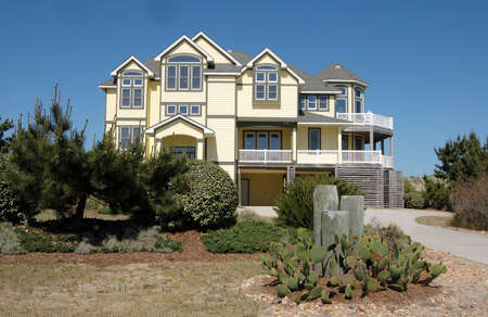 Beach House in the Outer Banks of North Carolina. Archivio Fotografico
