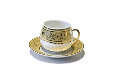 Empty golden cup