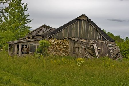 Wrecked rustic home