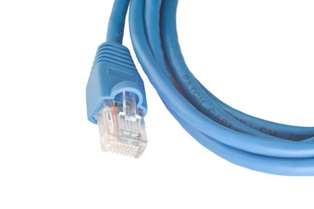 Network patchcord curtailed by a ring photo