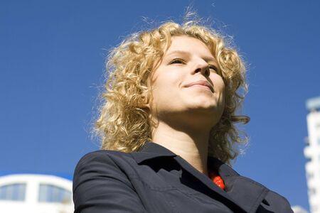 Portrait of business women on citys landscape Stock Photo - 1780054