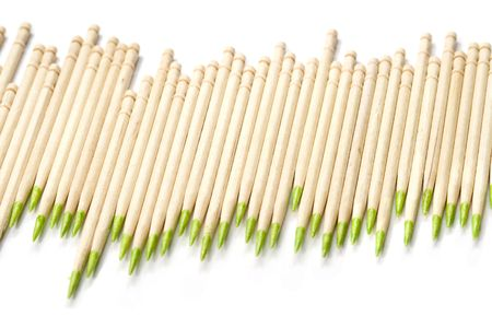 Diagram made of toothpicks on white background