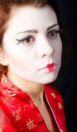 portrait of beautiful japanese women Stock Photo