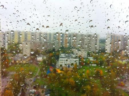 Rain in city Stock Photo