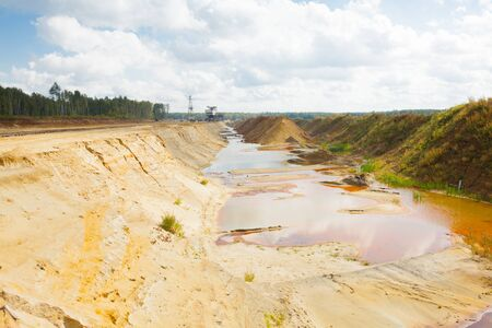 sand quarry: Ecological catastrophy in mud sand mining quarry