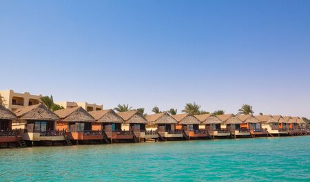 Luxury village on the river in Egypt Stock Photo