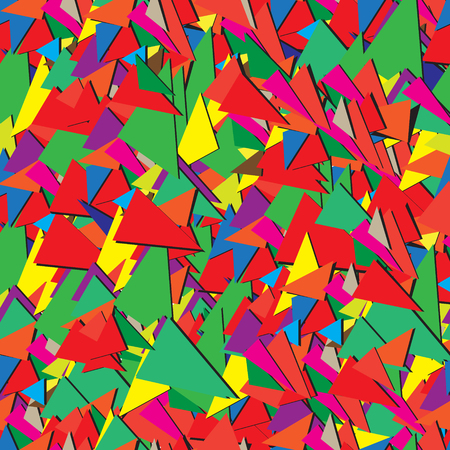 Seamless abstract geometric ornamental pattern of triangles Illustration
