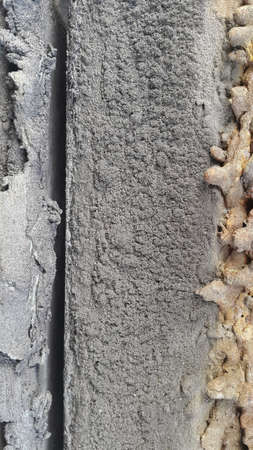 Abstract texture of concrete and rusty metal