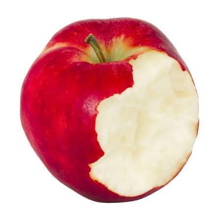 The isolated bitten apple on a white background photo