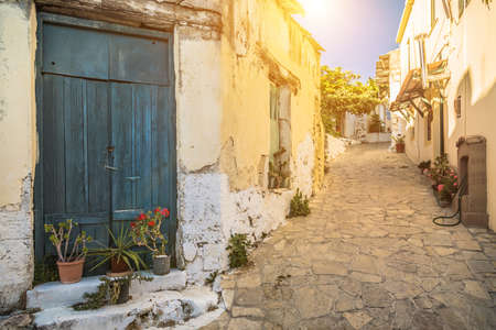 View of old town in Chania, Crete