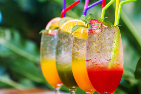 Mocktail and smoothies is a popular beverage of people love health and freshness. Zdjęcie Seryjne