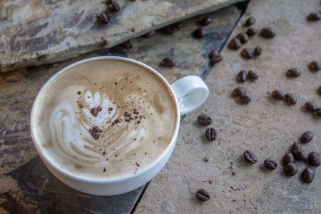 Mocha hot served in a cup of coffee. For those who like to drink coffee and cocoa. Zdjęcie Seryjne - 107706930