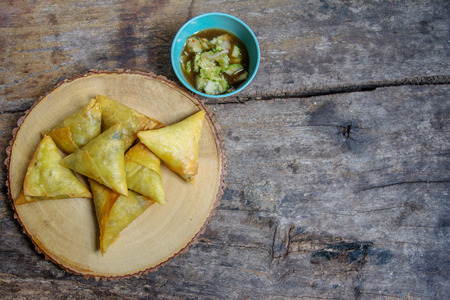 Samoza as Islamic food for snacks or eat with the curry meat.