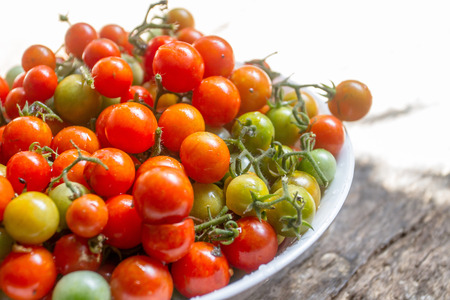Fresh cherry tomatos are very useful for the body.