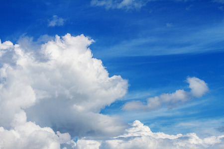 Blue sky and white clouds in the background. Zdjęcie Seryjne