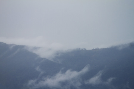 Viewpoint of the mountains in winter, north of Thailand.