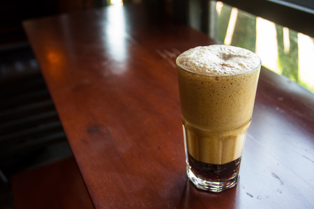 Nitro cold brew coffee Compressed nitrogen into a fermenting beer-like system.