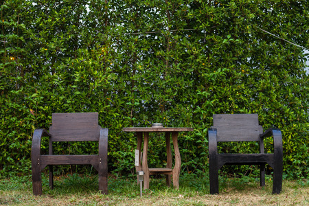 Place the table and chairs in this corner of the garden. Is an art of placement