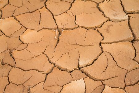 Detail of the dry ground until cracked, used as background
