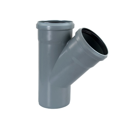 PVC plastic pipe for sewers photo