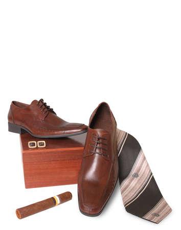 Brown men shoes photo