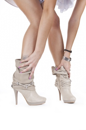 women legs and shoes Stock Photo
