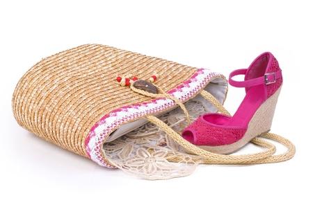 女性の靴とバッグ 写真素材