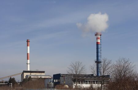 industrial chimneys photo