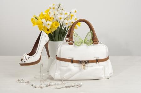 handbags: shes and bag Stock Photo