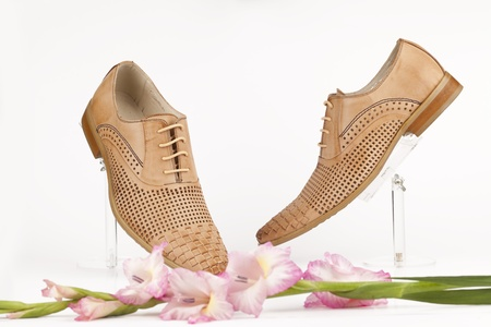 Men shoes with rose