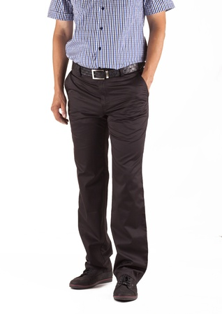 man in trousers