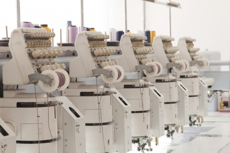 textile industry: embroidery machine