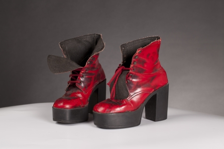 red seventies platform shoes