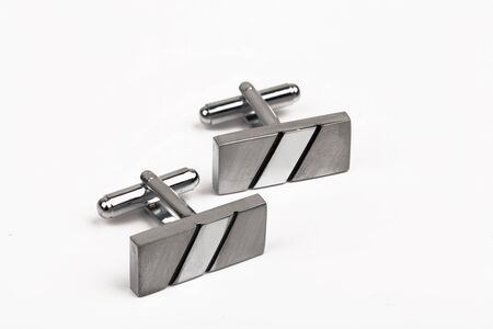 silver cuff links Stock Photo - 15436686