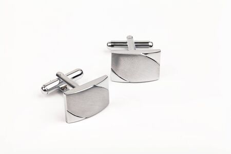 silver cuff links photo