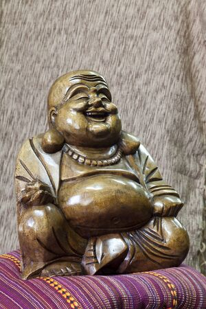 Buddha made of wood photo