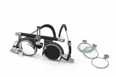 視力テスト眼鏡 写真素材