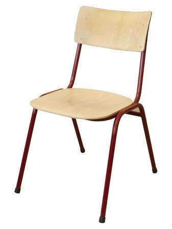 silla de madera: metal y silla de la escuela de madera