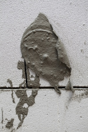 fresh plaster on the wall Stock Photo - 21654203