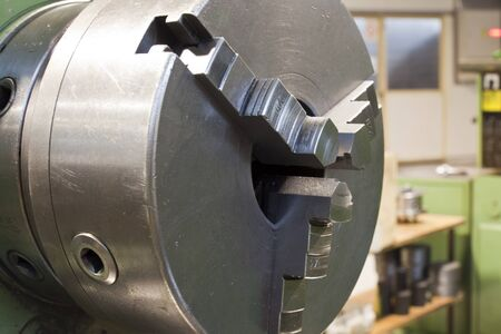 metal head for clamping on a lathe