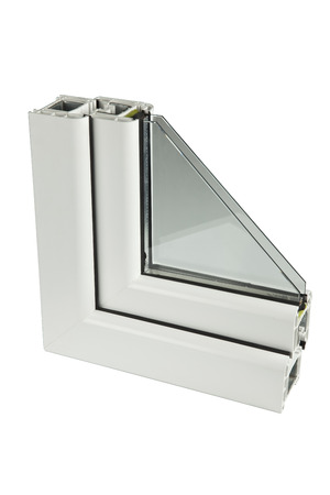 The sample PVC of a window Stock Photo - 26016057