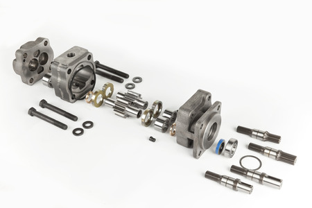 components of hydraulic gear pumps Reklamní fotografie