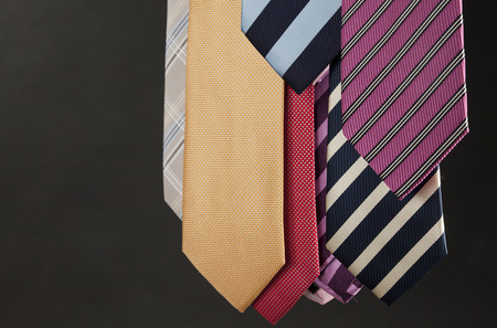 Group of colorful male ties photo