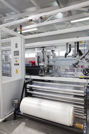 foil roll: Detail of packaging machine for rolls
