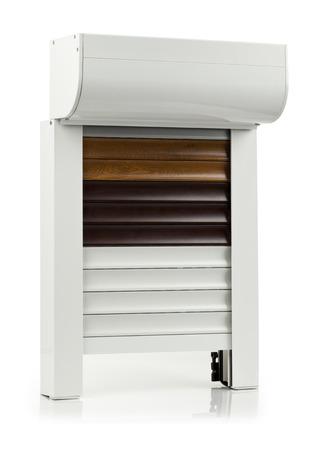 Alu Modell A Fenster auf weißem Hintergrund Standard-Bild - 31641906